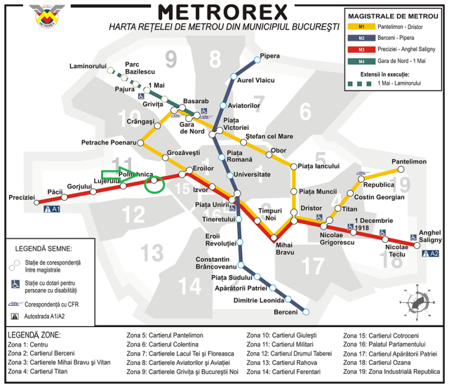 Bucharest subway map